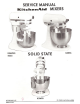KitchenAid K45SS - Classic - Stand Mixer Service Manual