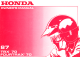Honda FOURTRAX70 Owner's Manual