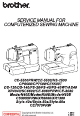 Brother CE-5500PRW Service Manual