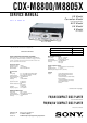 Sony CDX-M8800 - Fm/am Compact Disc Player Service Manual