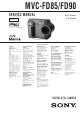 Sony MVC-FD90 Service Manual
