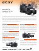 Sony XDCAM PDW-850 Specifications