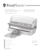 FoodSaver V3240 Reference Manual