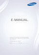 Samsung TV E-manual