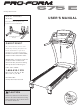 proform 6.0 rt treadmill manual