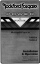 Rockford Fosgate T400-4 Installation & Operation Manual