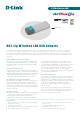 D-Link 802.11g Wireless LAN USB Adapter DWL-G122 Technical Specifications