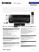 Yamaha Aventage RX-A820 New Product Bulletin