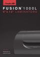 Fusion 1000L Instruction Manual