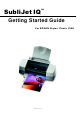 Epson SubliJet IQ Getting Started Manual
