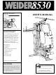 Weider 8530 User Manual