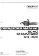 Echo CS-302 Operator's Manual