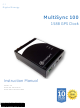 GE MultiSync 100 1588 Instruction Manual