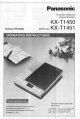 Panasonic KX-T1451 Operating Instructions Manual