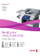 Xerox WorkCentre 7425 Manual D'utilisation