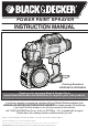Black & Decker BDPS400 Instruction Manual