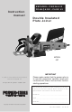 Porter-Cable 557 Instruction Manual