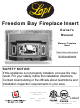 Lopi Freedom Bay Fireplace Insert Owner's Manual
