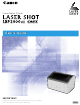 Canon Laser Shot LBP2900 User's Manual