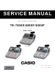 Casio TE-7000S Service Manual