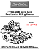 Cub Cadet 20HP Z-Force 44 Operator's And Service Manual
