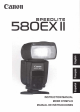 Canon 580EX - Speedlite II - Hot-shoe clip-on Flash Instruction Manual