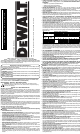 DeWalt DW716 Instruction Manual