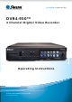 Swann DVR4-950 Operating Instructions Manual