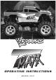 Traxxas T-Maxx Operating Instructions Manual