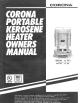 CORONA 23-DK Owner's Manual