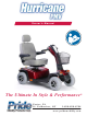 Pride Mobility Hurricane PMV Owner's Manual