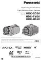Panasonic HDC-SD20 Operating Instructions Manual