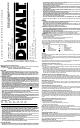 Dewalt DW321 Instruction Manual