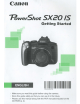 Canon PowerShot SX20 IS Getting Started