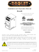 Drolet Eco-65 Installation And Operation Manual