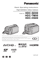 Panasonic HDC-SD80 Basic Operating Instructions Manual