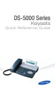 Samsung DS 5000 Series Quick Reference Manual