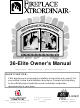 FireplaceXtrordinair 36-Elite Owner's Manual