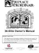 FireplaceXtrordinair 36-Elite Owner's Manual
