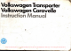 Volkswagen Caravelle Instruction Manual