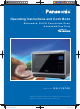 Panasonic NN-CF874B Operating Instruction And Cook Book