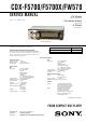 Sony CDX-F5700 Service Manual