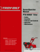 Troy-Bilt 12087 Owner's/operator's Manual
