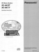Panasonic SC-AK27 Operating Instructions Manual