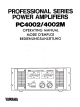 Yamaha PC4002 Operating Manual