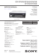 Sony CDX-GT470US Service Manual