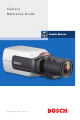 Bosch Camera Reference Manual