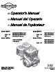 Briggs & Stratton 120000 Operator's Manual