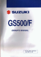 Suzuki GS500/F Owner's Manual