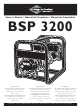 Briggs & Stratton BSP 3200 Owner's Manual